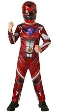 Boys Girls Red Power Rangers Movie Book Day Halloween Fancy Dress Costume Outfit