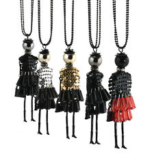 Lovely Doll Vintage Sexy Crystal Long Retro Girl Chain Pendant Women Necklace