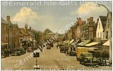 Bedfordshire Leighton Buzzard The High Street in colour Old Photo Print