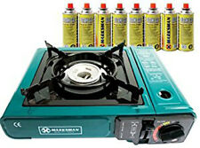 PORTABLE GAS COOKER STOVE WITH 2/4/8 BUTANE BOTTLES CAMPING GAS REFILLS OUT DOOR
