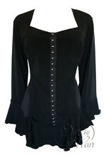Gothic CORSETTA Stretch Corset Style Top BLACK Size 18/20 to 26/28 PLUS SIZE