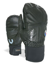 Level Mitten Leather glove Off Piste Leather Mitt black Thermal+