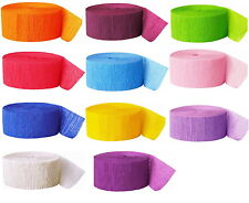 81ft / 24.6m Coloured Crepe Streamer Party Decoration - Choice of Colours - New