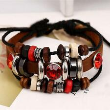 Wrap Fashion Jewelry Accessories Bracelet Bangle Multilayer PU Leather