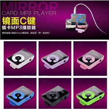 Support Up To 1--16GB USB Mirror Music Player SD TF Memory Card Clip MP3