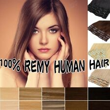 Cheap Price Clips In Short & Long 100% Remy Human Hair Full Head Extensions II24