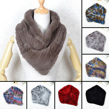 Women Real Rabbit Fur Wrap Shawl Scarf Cape Poncho Scarf Ideal Come Outwear Vest