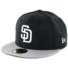New Era 5950 San Diego Padres Fitted Hat (Black/White-Heather Grey) Mens MLB Cap