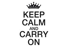 Decal Vinyl Truck Car Sticker - Keep Calm And Carry On