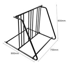 6 Bike Floor Parking Rack Cycling Storage Heavy Duty Steel Stand Bicycle NEW