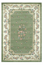 American Home Rug Co. Floral Garden Aubusson Sage/cream Area Rug