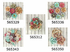 Prima * FAIRY RHYMES * MULBERRY PAPER FLOWERS * Scrapbooking Cards
