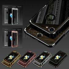 Hybrid 360° Tempered Glass Acrylic Hard Case Cover Skin For iPhone 6s & 7 Plus