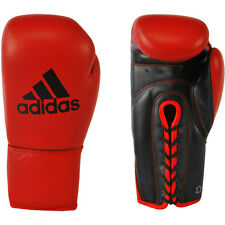 Adidas Combat Pro Lace Up Fight Gloves - Red/Black