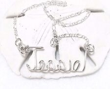 Anklet/Ankle Bracelet Personalized .925 Sterling Silver  Any Name sizes 7 - 12