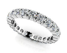 1ct Round G/SI Natural Diamond Eternity Wedding Ring 14k White Gold Womens Band