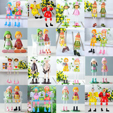 New Creative Wooden Doll Ornaments Pastoral Style Homehold Decoration Crafts