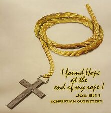 CHRISTIAN OUTFITTERS I FOUND HOPE AT THE END OF MY ROPE JESUS SHIRT #1156