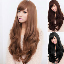 Women Long Curly Wavy Full Wig Heat Resistant Cosplay Party Curls Full Wigs Gift