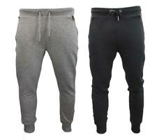 Mens Threadbare Joggers/Jogging Gym Bottoms Ribbed Style Tracksuit Bottoms