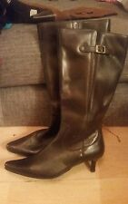 LEGROOM LEATHER CURVY CALF KNEE HIGH BOOTS SIZES 6EEE & 9EEE SIMPLY BE