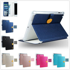 Magnet Clasp Flip Cover Leather Smart Sleep/Wake Case Card Holder For Apple iPad