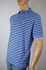 Ralph Lauren Classic Fit Blue/Navy Blue & White Stripe Mesh Polo Shirt/ Pony-NWT