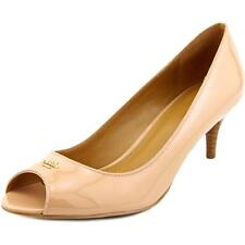Coach Delilah Women  Peep-Toe Patent Leather Nude Heels