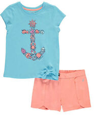 "Nautica Little Girls' Toddler ""Seashells"" 2-Piece Outfit (Sizes 2T - 4T)"