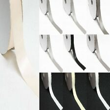"""91.44 meter Double Sided 5/8"""" /16mm Discount Satin Ribbon White Gray Black"""