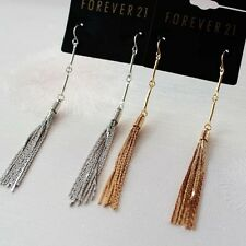 New Forever21 Hook Dangle Earrings Gift Women's Jewelry Fringe 2Colors Available