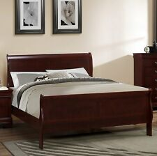 Roundhill Furniture Isola Louis Philippe Sleigh Bed