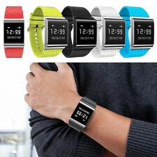 OLED Bluetooth Smart Watch Blood Pressure Heart Rate Monitor For iphone Android