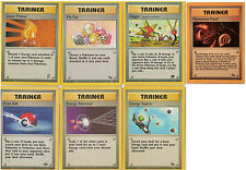 POKEMON ENERGY TRAINER CARDS ORIGINAL 1999/2000 BASE SET