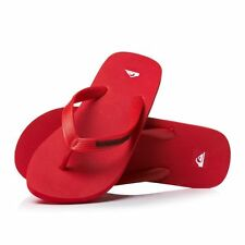 Brand New, Quiksilver Molokai Red Mens Flip Flops, Size 8, 9, 10, 12 BNWT