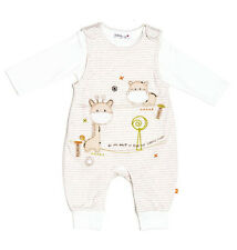 Unisex Baby Boys or Girls Dungaree & Bodysuit Set Outfit (Newborn - 6 Months)