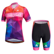 MILOTO Ciclismo Women's Cycling Jersey Summer Short Sleeve Bicycle Clothing Bib