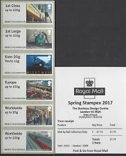 GB 2017 POST & GO MAIL BY RAIL STAMPEX 65TH ACCESSION 50TH MACHIN POSTAL MUSEUM