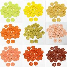 "9mm 0.34"" SZ 14 Small Plastic Coat Buttons YELLOW TO RUST 10-90 buttons Retail"