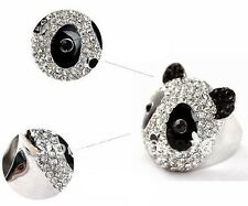 Panda Cocktail Ring - Swarovski Crystal
