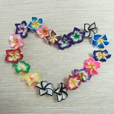 Wholesale! 20mm Pretty Mixed Polymer Fimo Clay Flower Spacer Loose Beads