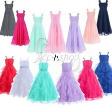 Pageant Flower Girls Wedding Birhtday Formal Party Prom Princess Ball Gown Dress