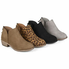 Brinley Co. Womens Tassel Faux Suede Comfort Sole Booties