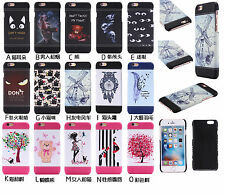 New For iPhone Samsung Hybrid Shockproof Leather Pattern Case Hard PC Back Cover