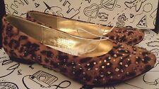 Stevies by Steve Madden  Brown Leopard Animal Print Ballet Flats Slip On Shoes