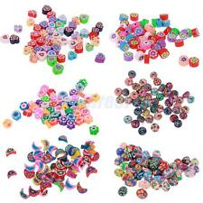 50pcs Colorful Polymer Clay Beads Charms for Jewelry Making DIY Craft Findings