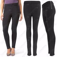 NEW WOMENS SIDE ZIP BLACK JEGGINGS LADIES SKINNY LEGGINGS LOOK PANTS TROUSERS