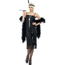 Black CHARLESTON FLAPPER Gatsby 20s Womens Fancy Dress Costume Outfit 28605