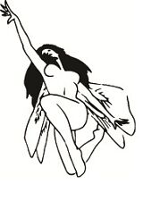 Vinyl Decal Fairy Reaching , Wall Art Stickers-Fairy Wall Decals