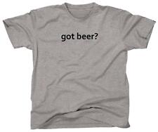 GOT BEER? Funny College Party Cool Retro Tee Drinking - T-Shirt - NEW - Grey